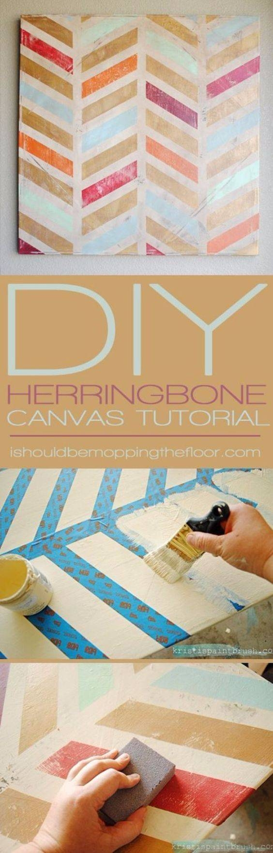 25+ Unique Diy Wall Ideas On Pinterest | Diy Art Projects, Diy Regarding Latest Diy Pinterest Canvas Art (View 12 of 25)