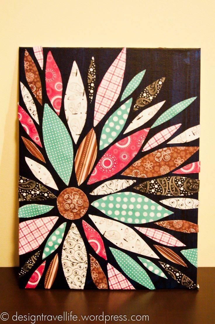 25+ Unique Fabric Canvas Art Ideas On Pinterest | Fabric Wall Art Throughout Most Recent Diy Pinterest Canvas Art (View 14 of 25)