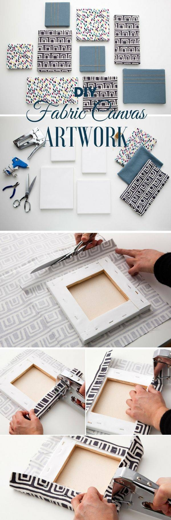25+ Unique Fabric Covered Canvas Ideas On Pinterest | Fabric Intended For Most Popular Matching Canvas Wall Art (View 4 of 20)