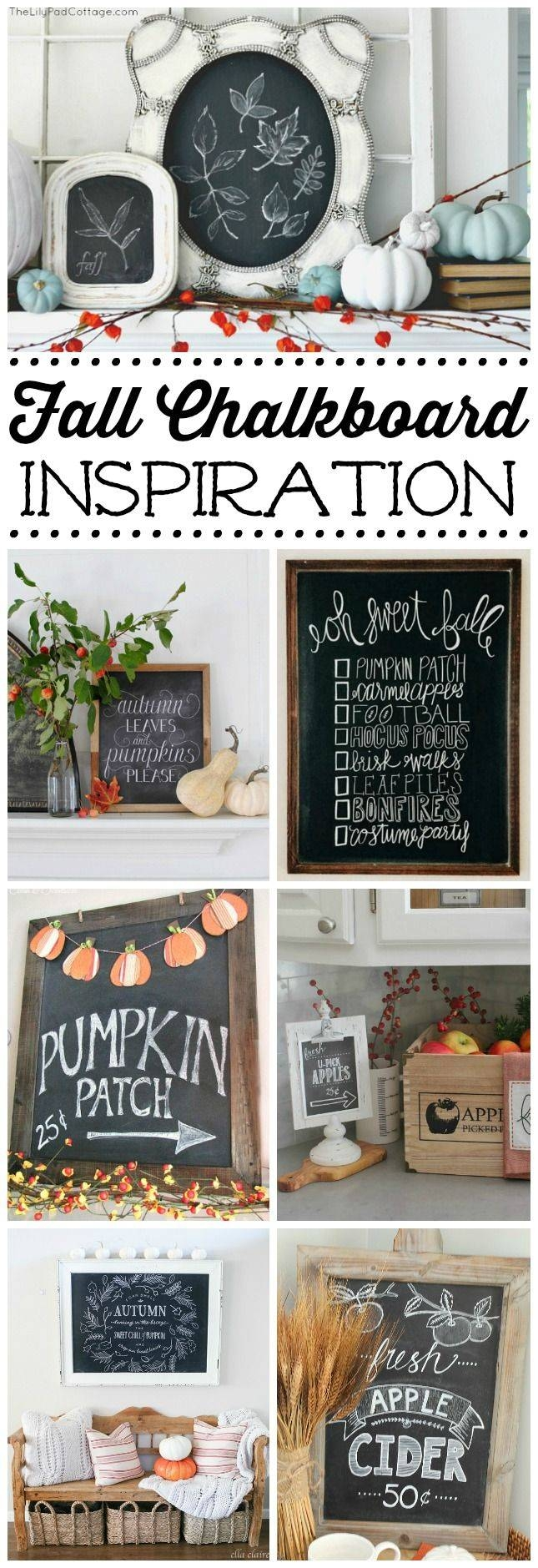25+ Unique Fall Chalkboard Ideas On Pinterest | Fall Chalkboard Throughout 2018 Autumn  Inspired Wall Art (View 3 of 25)
