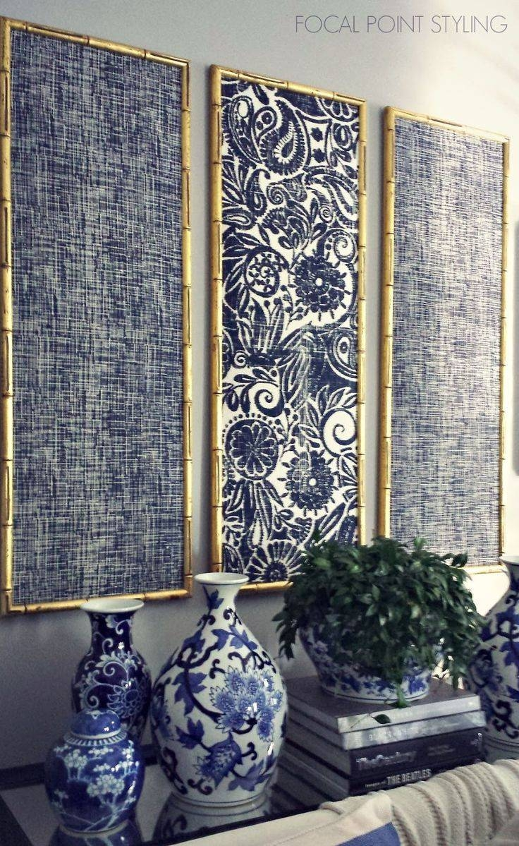 25+ Unique Framed Fabric Art Ideas On Pinterest | Fabric In Frames For Recent Framed Fabric Wall Art (View 1 of 20)