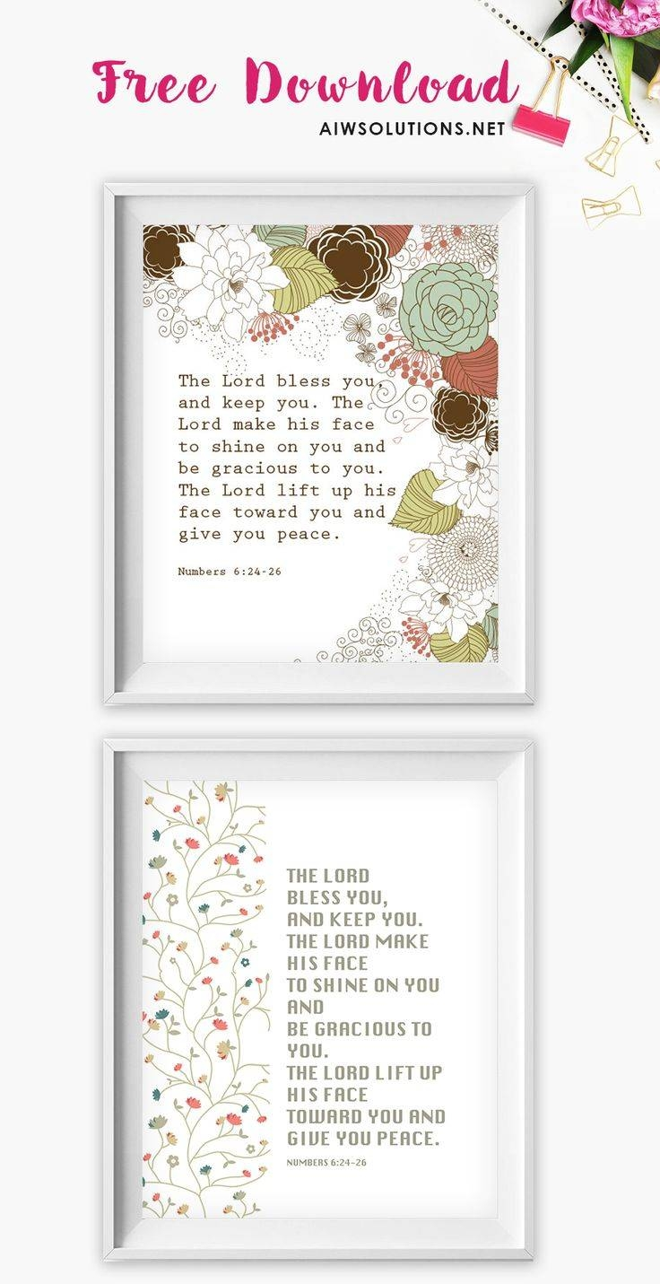 25+ Unique Free Printable Scripture Ideas On Pinterest | New Year In Latest Scripture Canvas Wall Art (View 2 of 20)