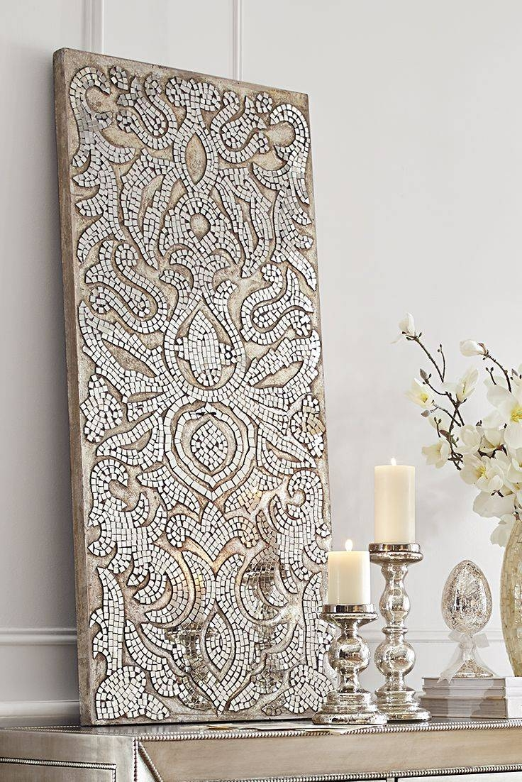 25+ Unique Mosaic Wall Art Ideas On Pinterest | Mosaic Art, Mosaic With Newest Black And White Damask Wall Art (View 1 of 30)