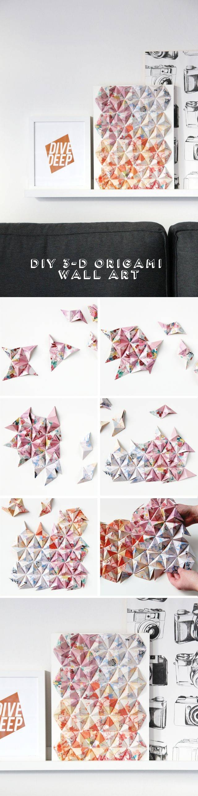 25+ Unique Origami Wall Art Ideas On Pinterest | Paper Wall Decor Within Most Up To Date 3d Clouds Out Of Paper Wall Art (View 14 of 25)