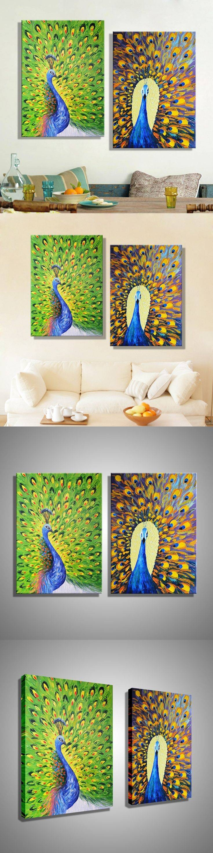 25+ Unique Peacock Wall Art Ideas On Pinterest | Peacock Artwork Intended For 2017 Jeweled Peacock Wall Art (View 2 of 20)