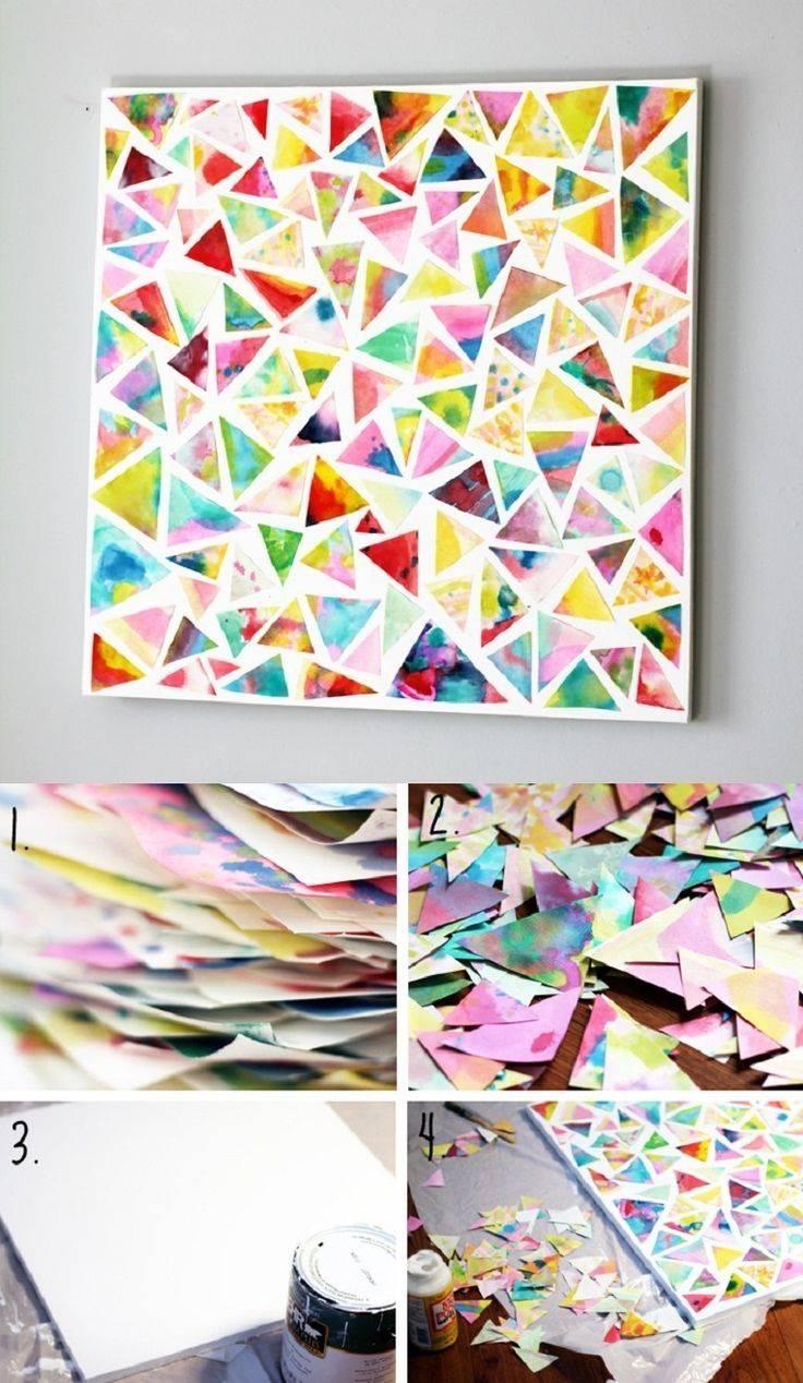 25+ Unique Scrapbook Wall Art Ideas On Pinterest | Paper Wall Art Regarding 2018 3d Triangle Wall Art (View 12 of 20)
