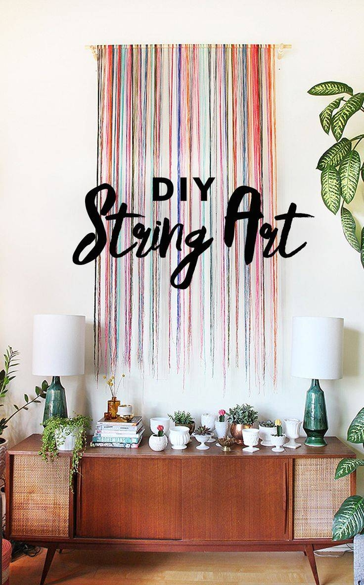 25+ Unique String Wall Art Ideas On Pinterest | Heartbeat, String Within Most Up To Date Unique Modern Wall Art (View 1 of 20)