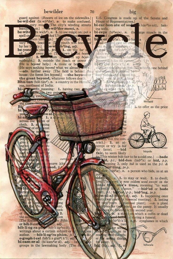 25+ Unique Vintage Bicycle Art Ideas On Pinterest | Rose Basket In Current Cycling Wall Art (View 9 of 25)