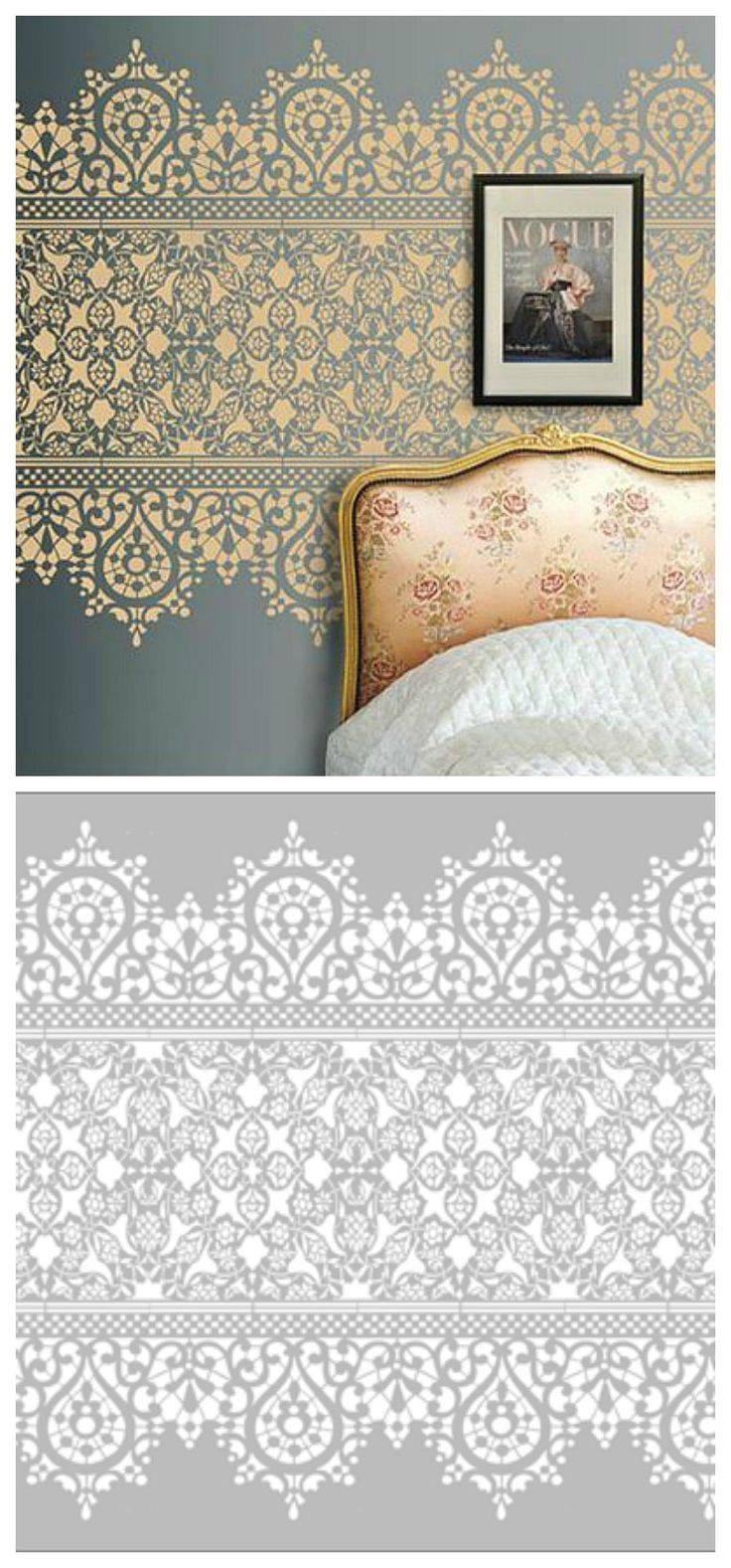 25+ Unique Wall Stenciling Ideas On Pinterest | Diy Stenciled Pertaining To Recent Space Stencils For Walls (View 7 of 20)