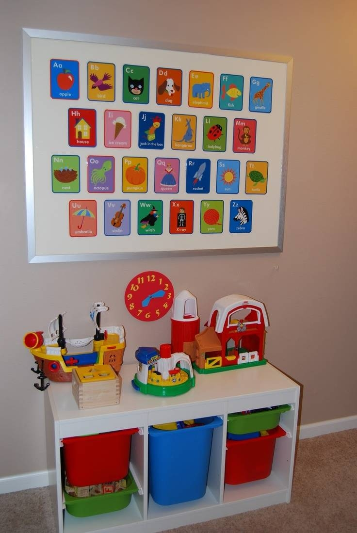 255 Best Organization / Playroom Ideas Preschool Images On Intended For 2018 Wall Art For Playroom (View 1 of 30)
