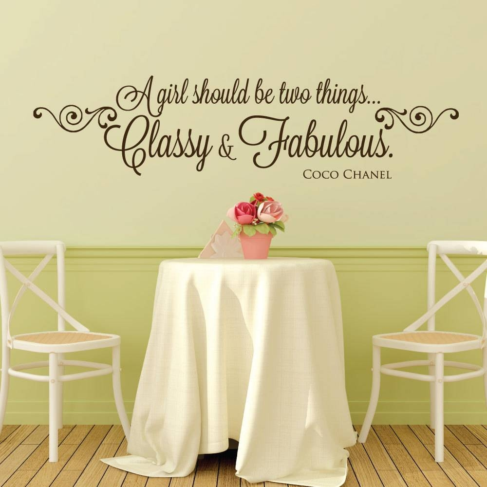 28+ [ Coco Chanel Wall Sticker Quotes ] | Coco Chanel Quote With Most Recently Released Coco Chanel Wall Decals (View 15 of 25)