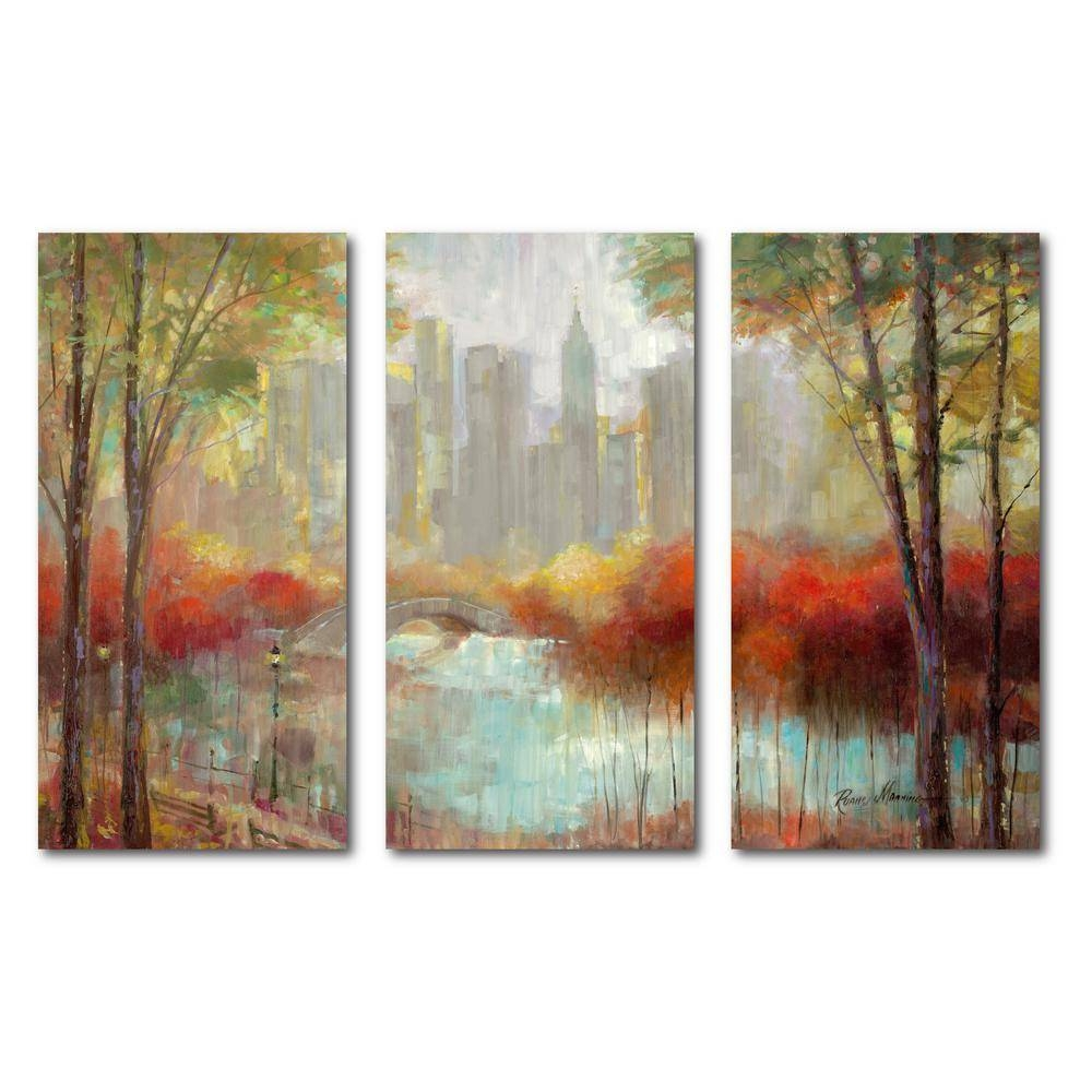 "3 24 In. X 36 In. Panels ""city Canvas"" 3 Multi Panel Gallery In 2018 Multi Canvas Wall Art (Gallery 8 of 20)"