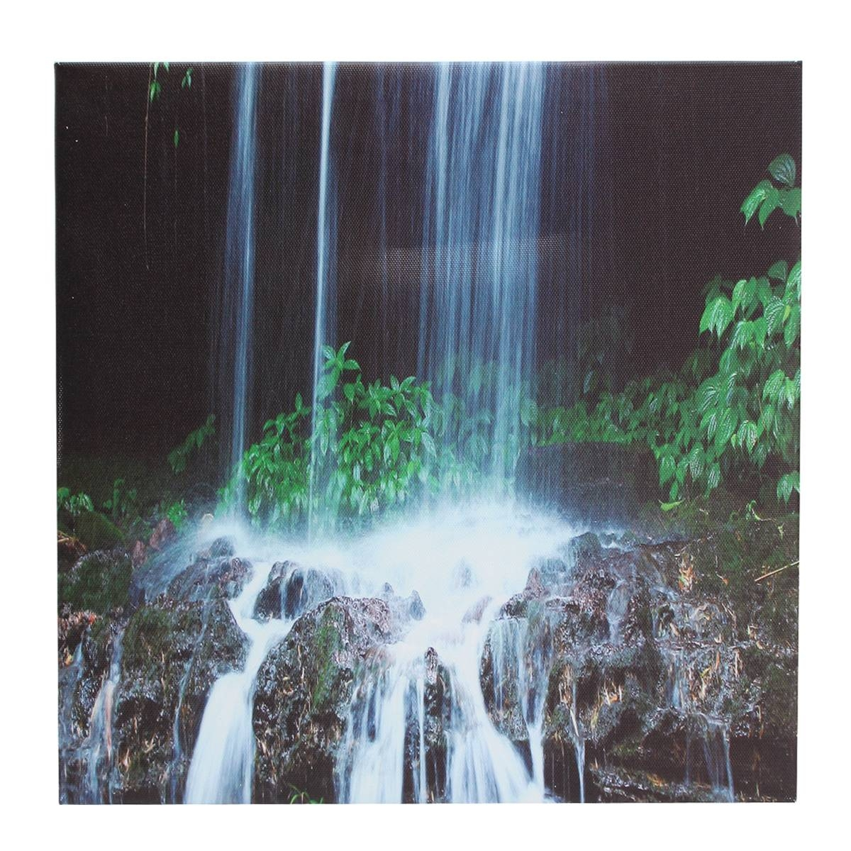 3 Cascade Large Waterfall Framed Print Painting Canvas Wall Art Inside Most Popular Waterfall Wall Art (View 3 of 20)