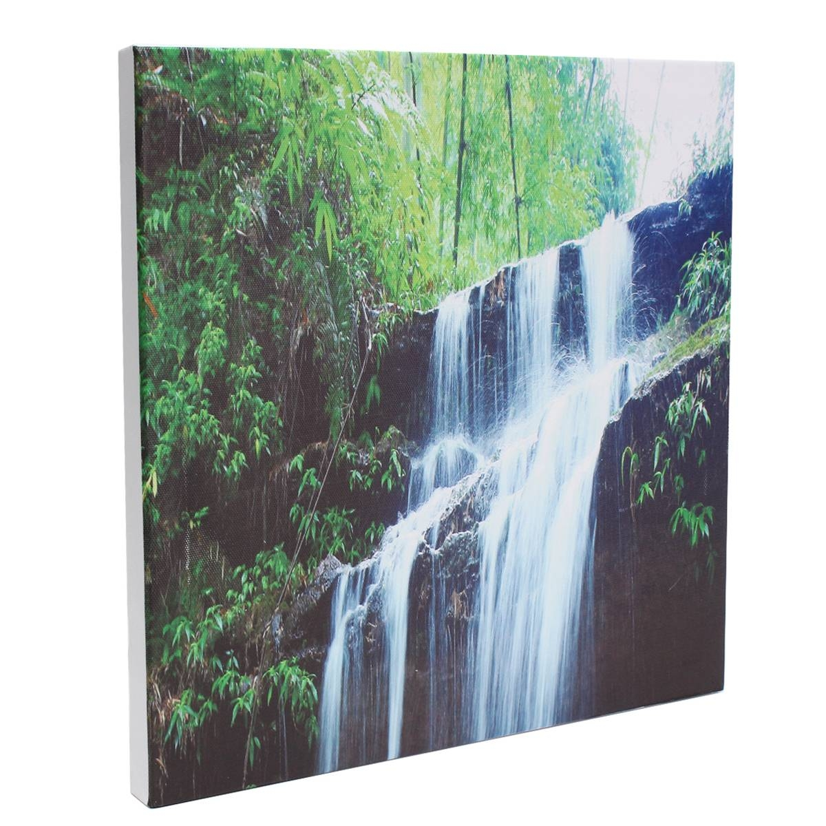 3 Cascade Large Waterfall Framed Print Painting Canvas Wall Art Regarding Most Current Waterfall Wall Art (Gallery 2 of 20)