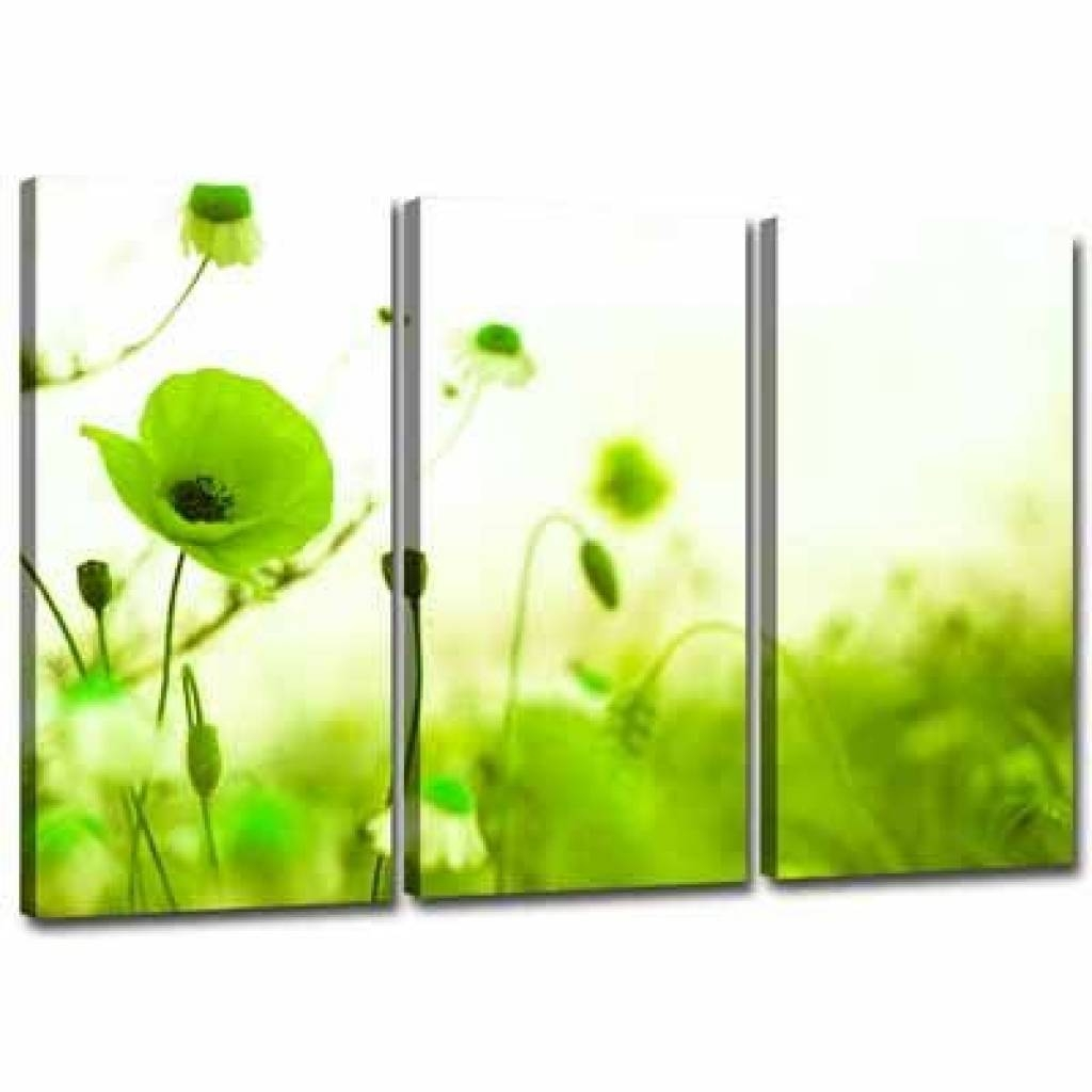 3 Green Canvas Wall Decor | Lime Green Canvas Wall Art 3 Pictures With Recent Lime Green Wall Art (View 5 of 20)