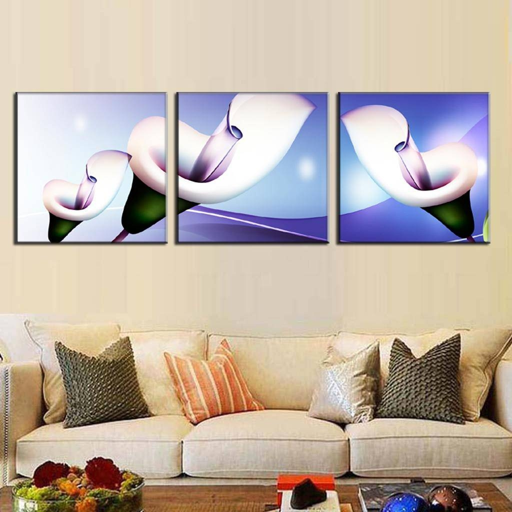 3 Pcs/set Abstract Canvas Wall Art Paintings With Frame Glass Regarding Most Current 3 Set Canvas Wall Art (Gallery 11 of 20)