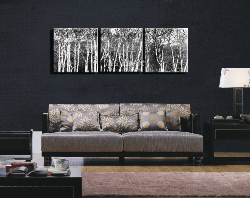 3 Piece Black White Hd Prints Abstract Pintura Canvas Wall Art In Current 3 Piece Abstract Wall Art (View 3 of 16)