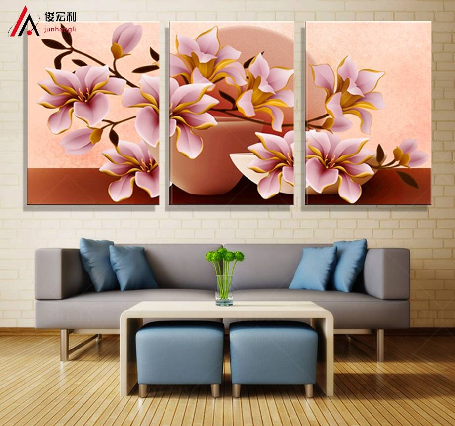 3 Piece Canvas Wall Art 3D Modular Paintings On The Wall Throughout Most Popular 3D Wall Art Canvas (View 2 of 20)