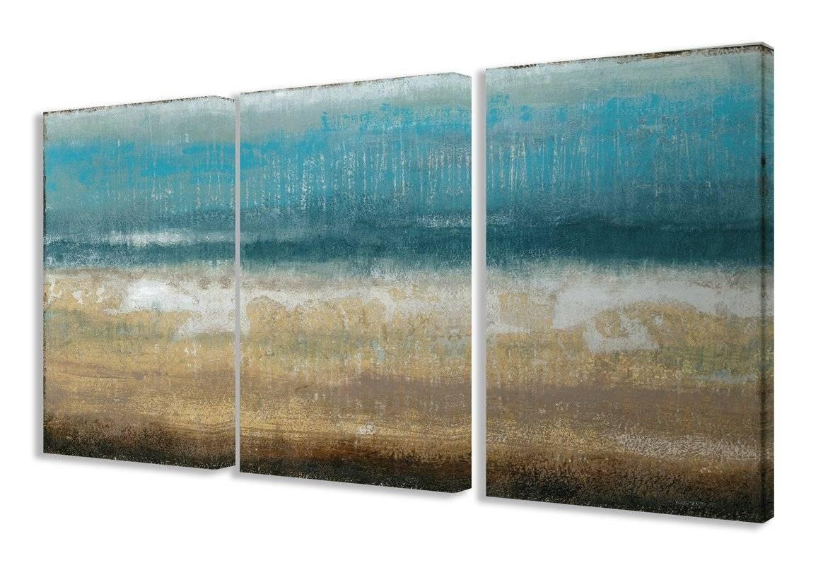 3 Piece Wall Art You'll Love | Wayfair Inside Newest Long Vertical Wall Art (View 1 of 20)