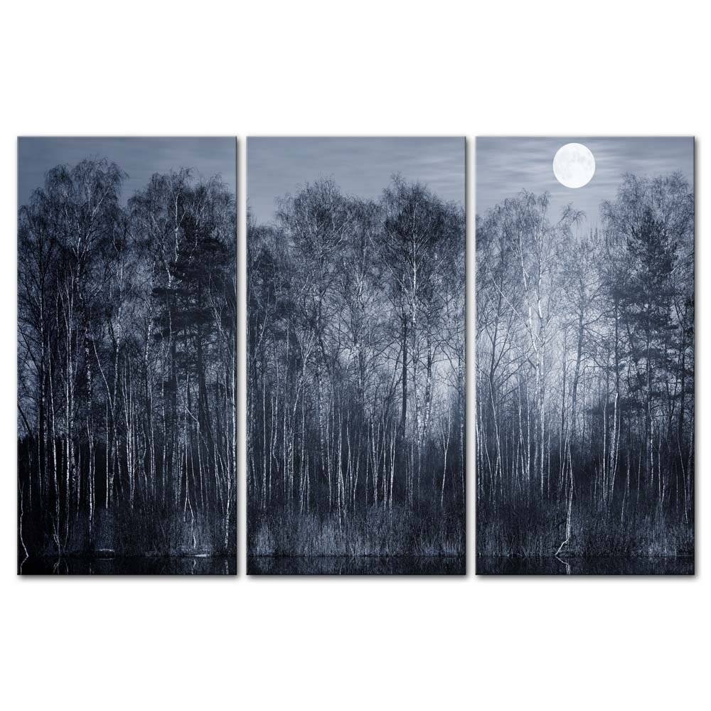 3 Pieces Modern Canvas Painting Wall Art Peaceful Jungle Forest Inside Most Recent Jungle Canvas Wall Art (View 2 of 20)