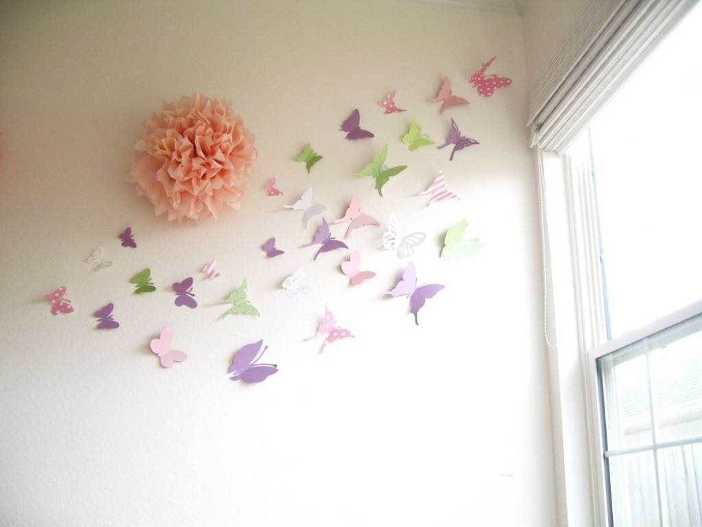 30 Butterflies 3D Butterfly Wall Art 3D Simplychiclily On Etsy 3D Throughout Most Up To Date 3D Wall Art Etsy (View 2 of 20)
