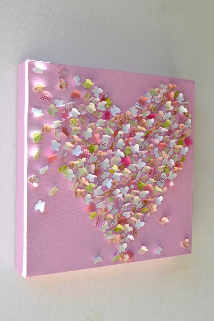 31 Best Butterfly Wall Art Images On Pinterest | Butterfly Wall In Newest Heart 3D Wall Art (Gallery 12 of 20)