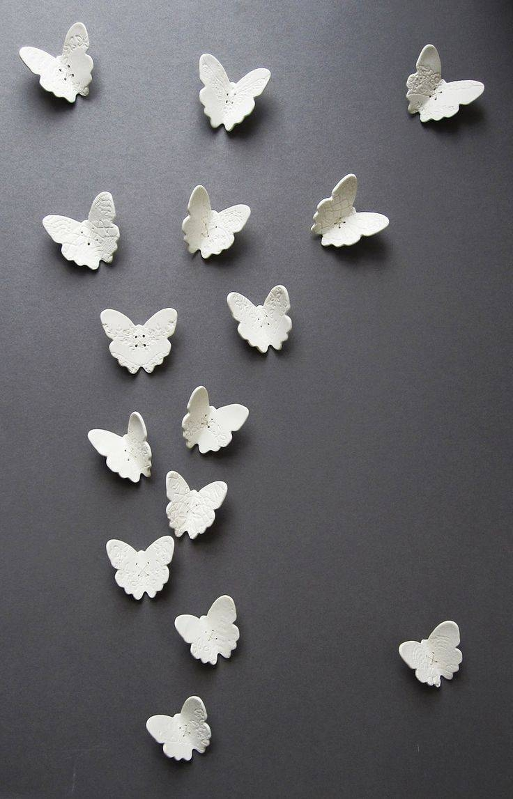 32 Best Wall Art Sculpture Images On Pinterest | Wall Art With Most Recently Released Ceramic Butterfly Wall Art (View 8 of 30)