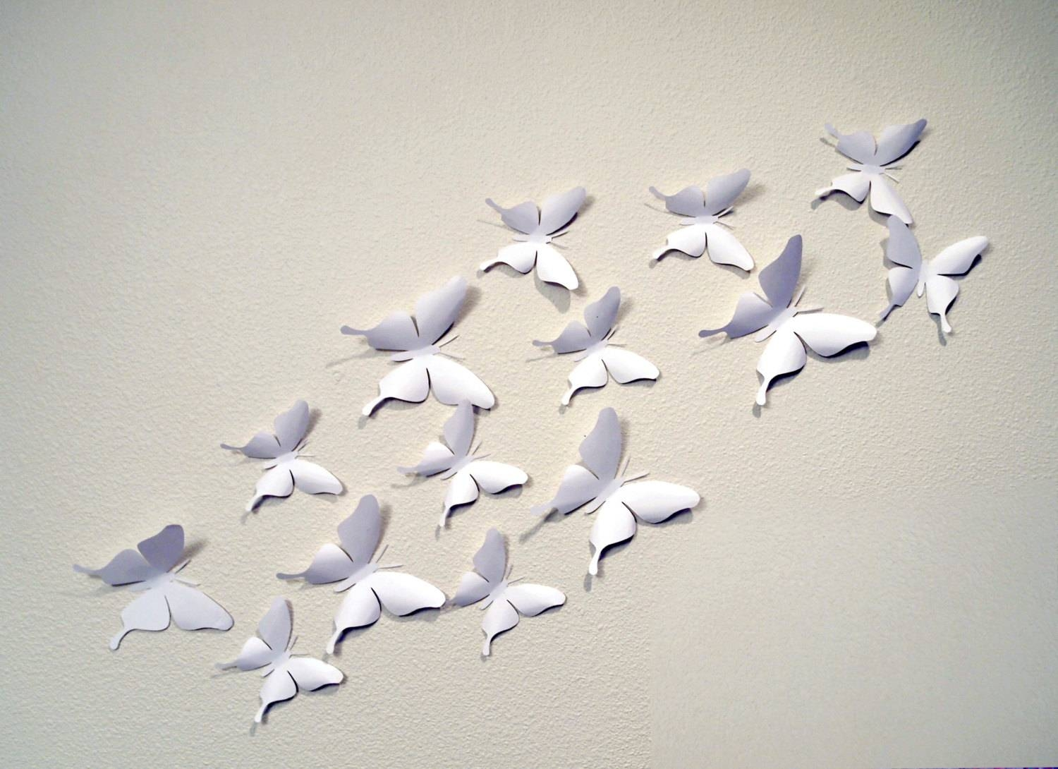 35 White 3D Butterfly Wall Art Throughout Most Recent White 3D Butterfly Wall Art (Gallery 5 of 20)