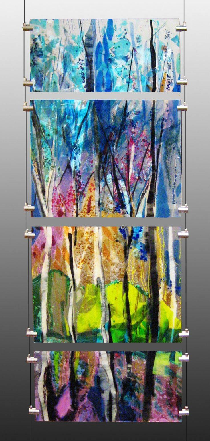 385 Best Glass Images On Pinterest | Stained Glass, Glass And With Regard To Latest Modern Glass Wall Art (View 6 of 20)