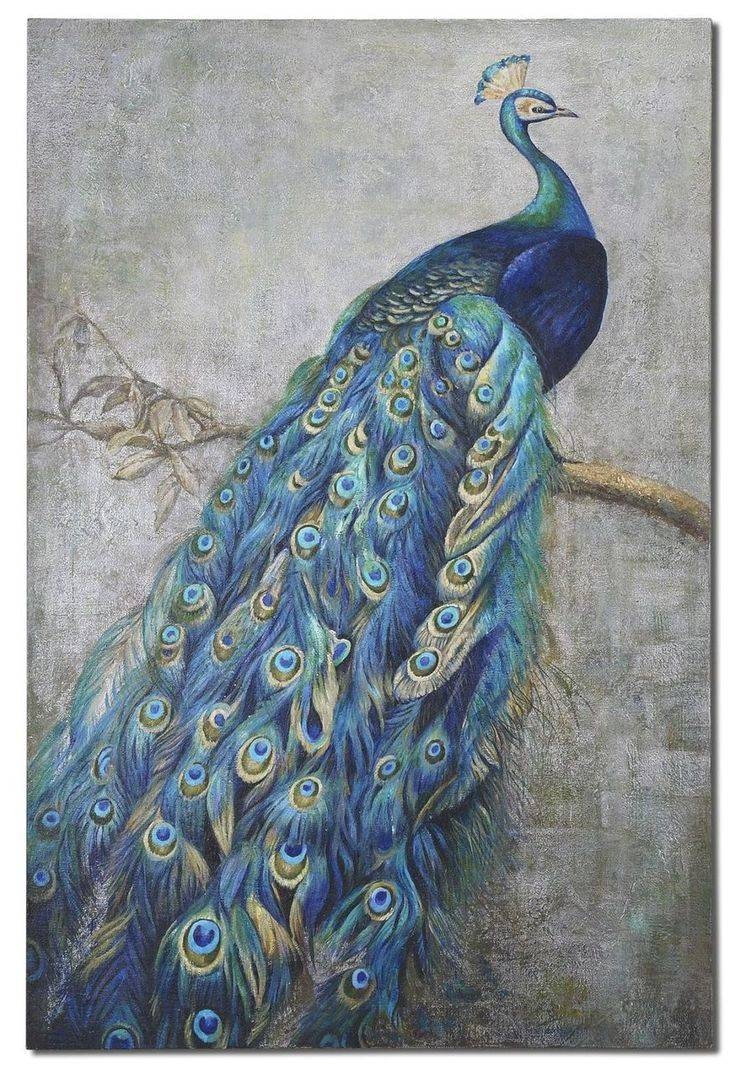 39 Best Peacock Images On Pinterest | Peacock Canvas, Peacock For Current Jeweled Peacock Wall Art (View 3 of 20)