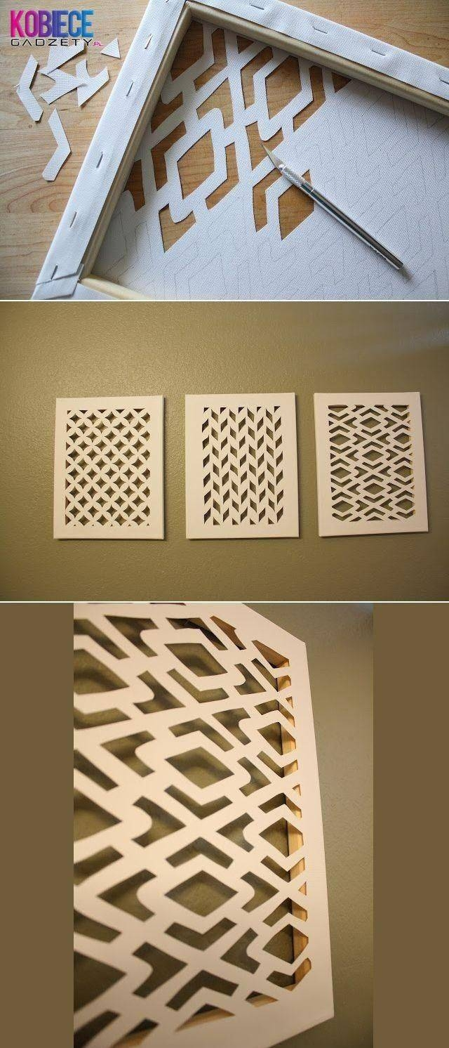 39 Easy Diy Ways To Create Art For Your Walls | Knives, Canvases For Most Recently Released Diy Pinterest Canvas Art (View 17 of 25)