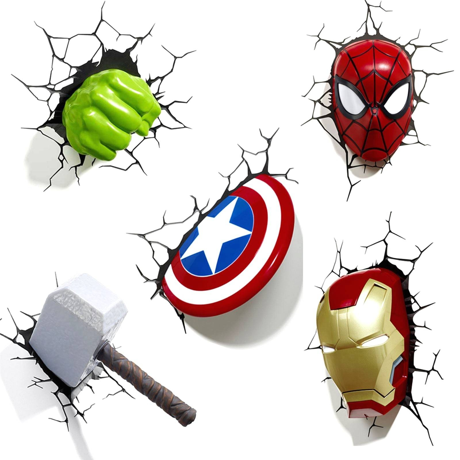 3D Avengers Wall Light With Amazon Com 3D Fx Marvel Captain Inside Most Up To Date 3D Wall Art Captain America Night Light (Gallery 12 of 20)