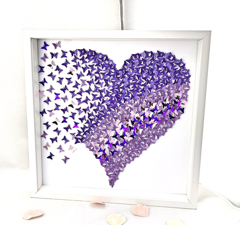 3D Butterflies Heart , 3D Butterfly Wall , Paper Butterflies Heart Throughout 2018 Heart 3D Wall Art (View 3 of 20)