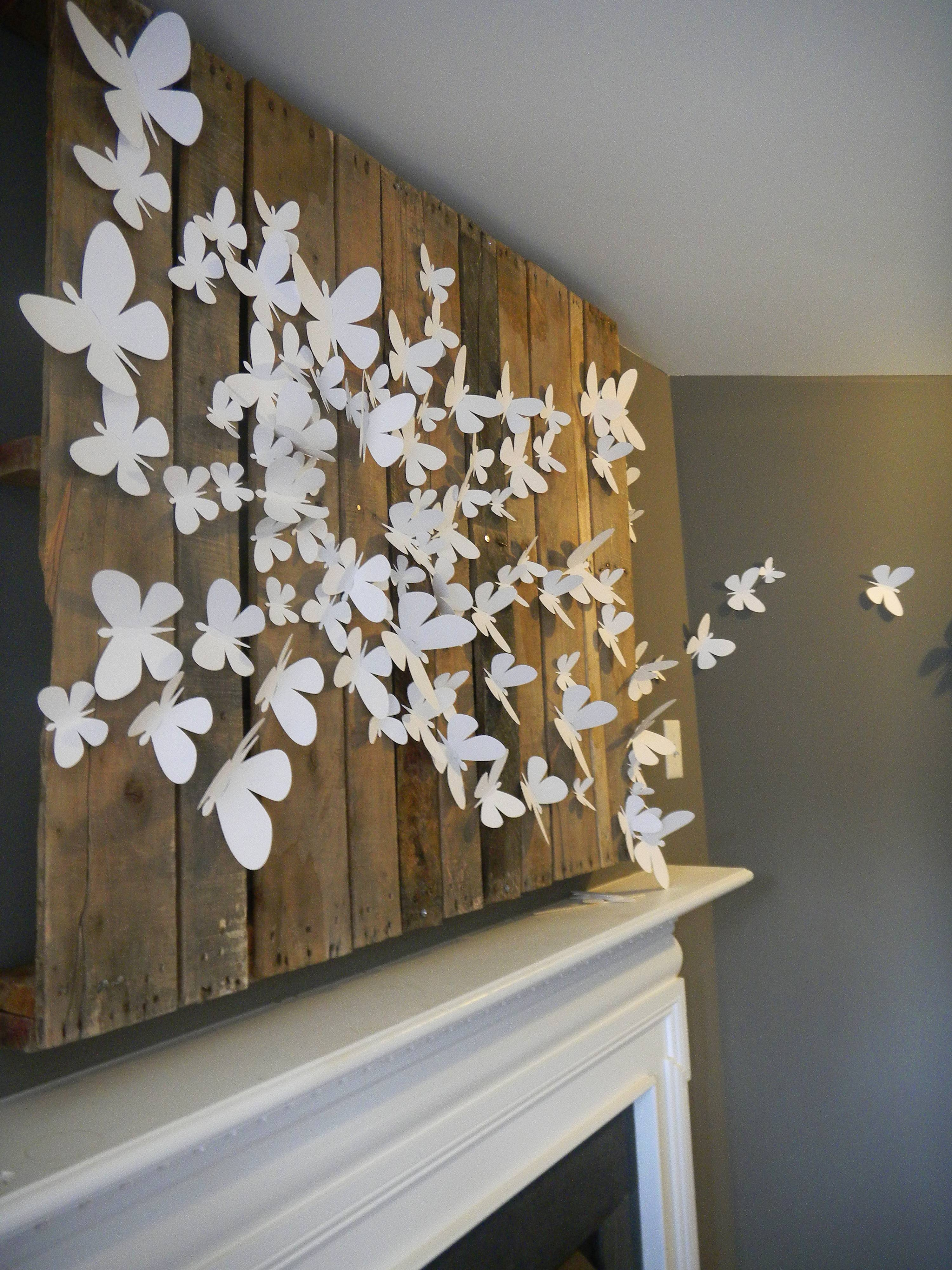 3D Butterfly Wall Art | Design Fabulous Inside Most Recent 3D Wall Art For Bedrooms (View 3 of 20)