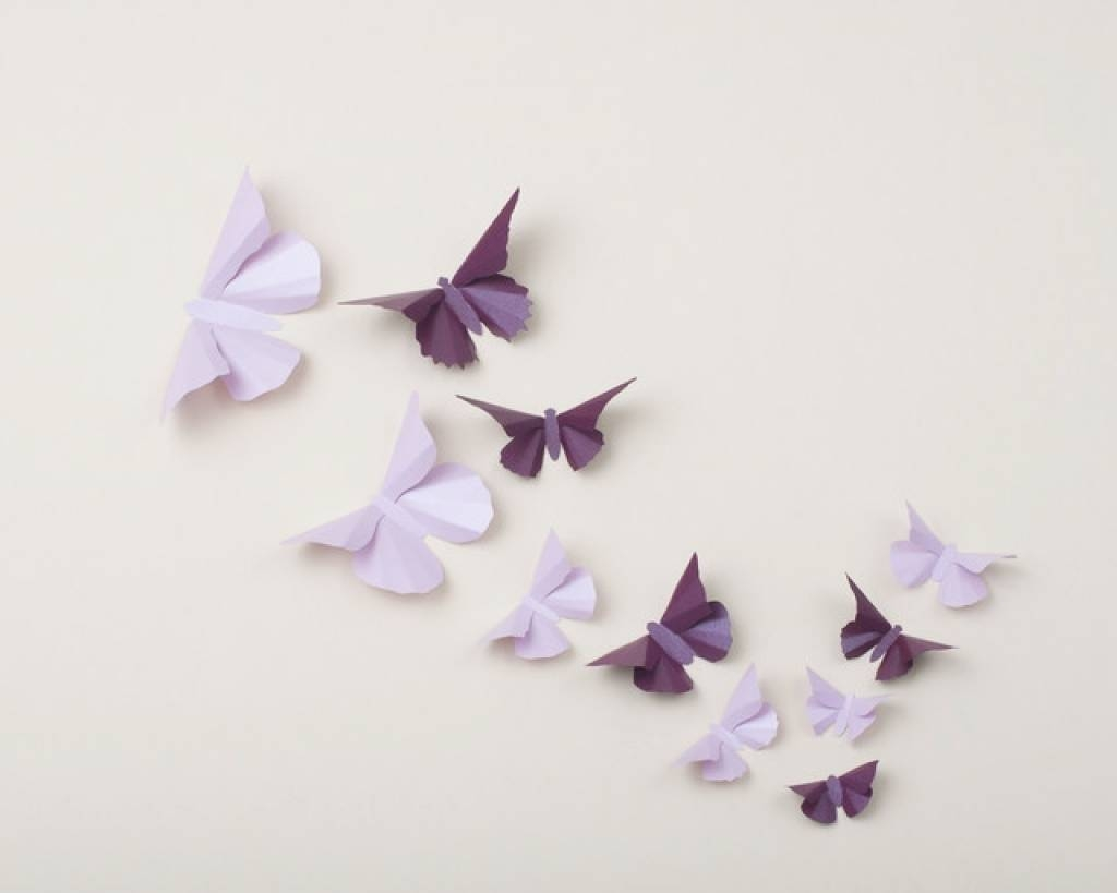 3D Butterfly Wall Art Eclectic Nursery Decor Portland 3D For Recent Butterflies 3D Wall Art (View 4 of 20)