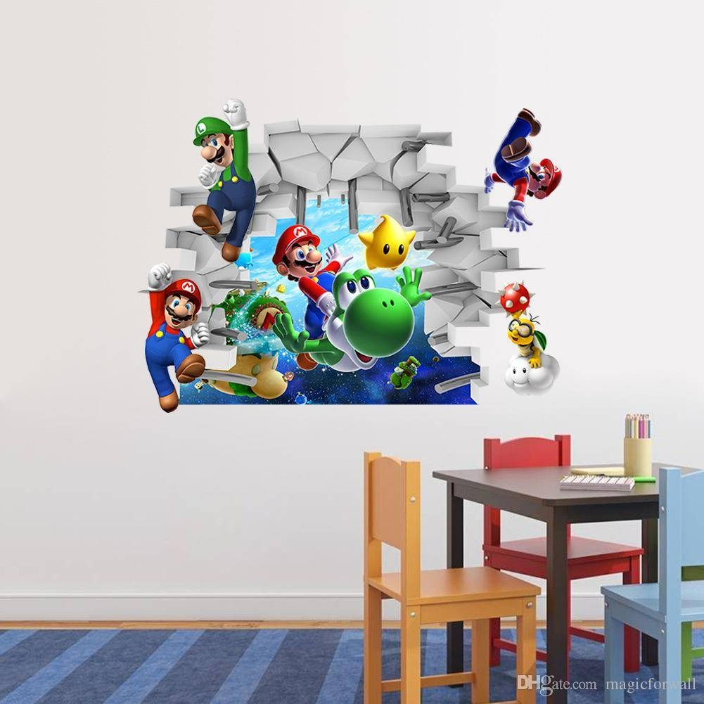 3d Cartoon Wall Art Mural Decor Sticker Kids Room Nursery Wall With 2018 Decorative 3d Wall Art Stickers (View 10 of 20)