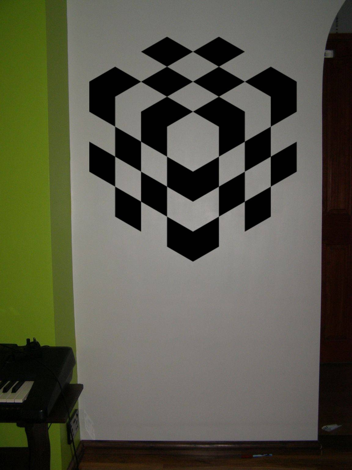 3D Chess Cube Wall Art Sticker. With Latest Cubes 3D Wall Art (Gallery 8 of 20)
