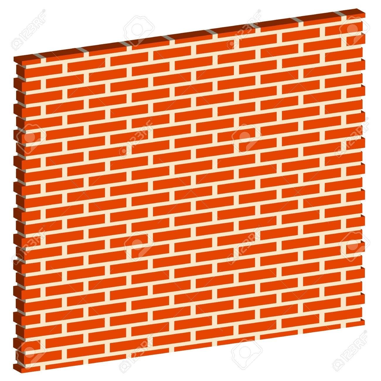 3D Clipart Brick Wall – Pencil And In Color 3D Clipart Brick Wall In 2018 3D Brick Wall Art (View 3 of 20)