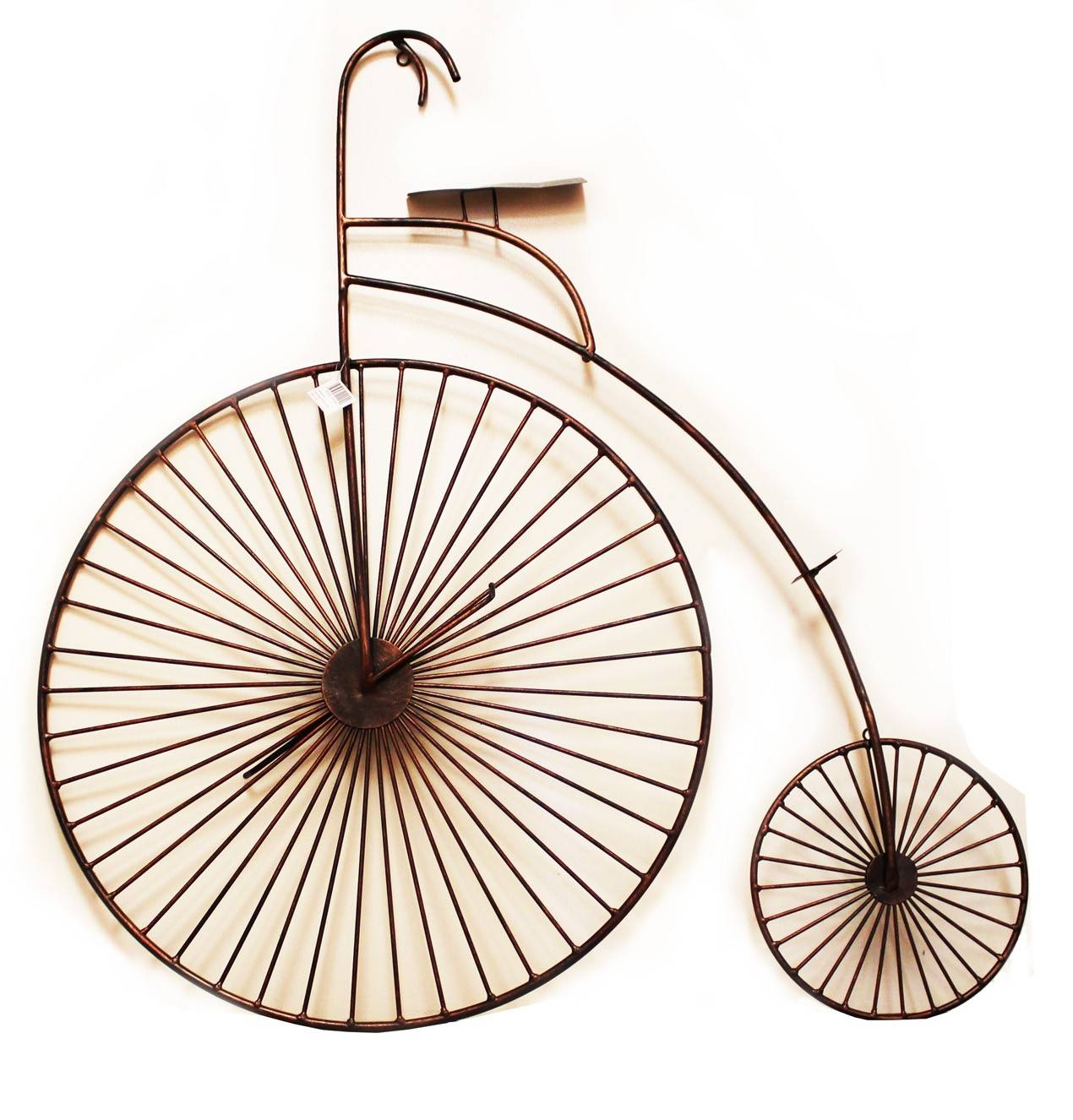 3D Copper Tone Bicycle Wall Art | Unique Metal Wall Art | Wall Decor intended for Current Bicycle Metal Wall Art