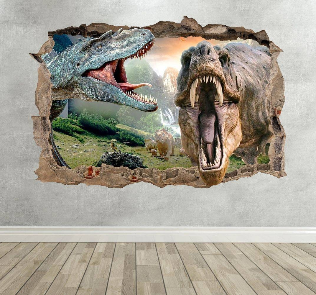 3D Dinosaur Kids Breakout Wall Sticker With Best And Newest Dinosaurs 3D Wall Art (Gallery 4 of 20)