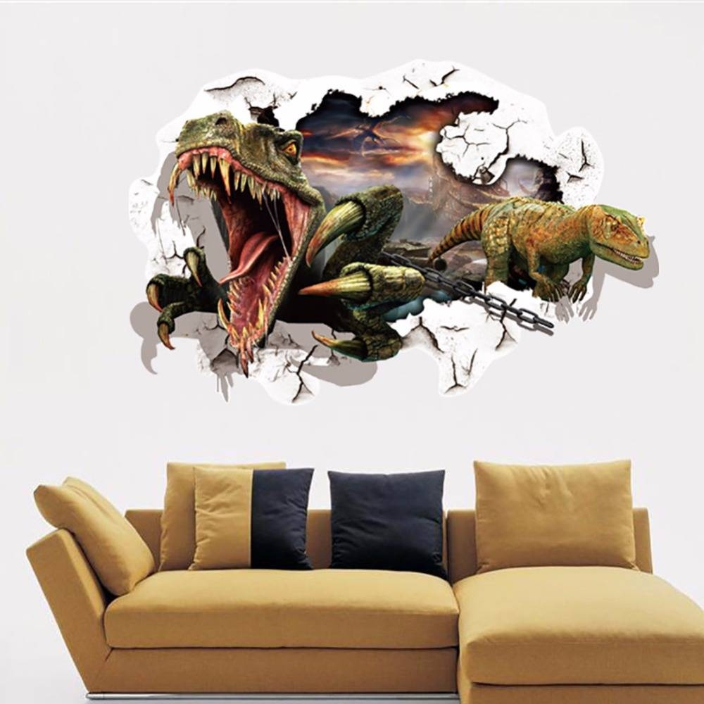 3d Dinosaur Wall Art – Wall Murals Ideas Pertaining To 2017 3d Effect Wall Art (View 9 of 20)