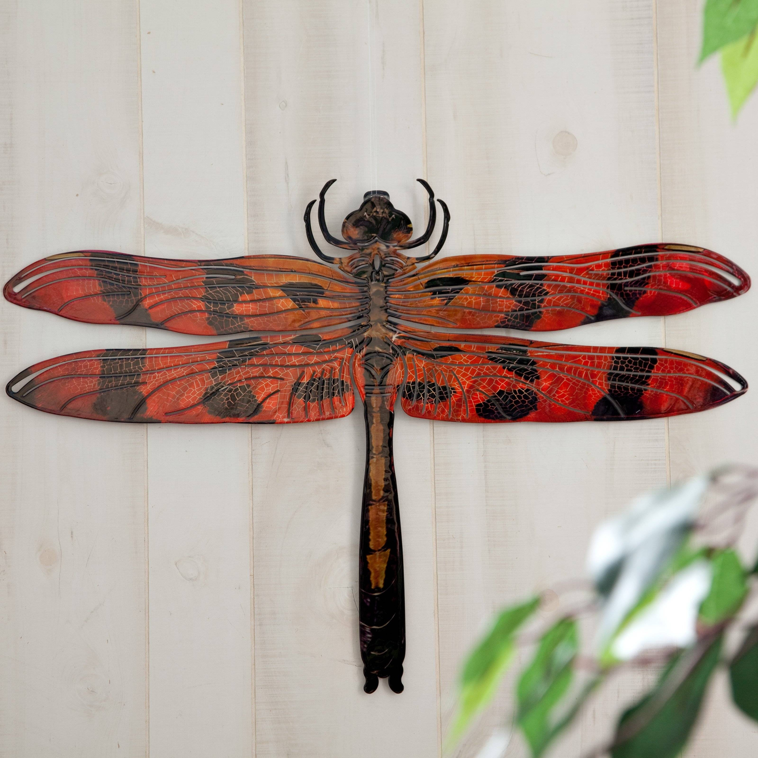 3D Dragonfly Metal Outdoor Wall Art | Hayneedle With Most Current Dragonfly 3D Wall Art (Gallery 5 of 20)