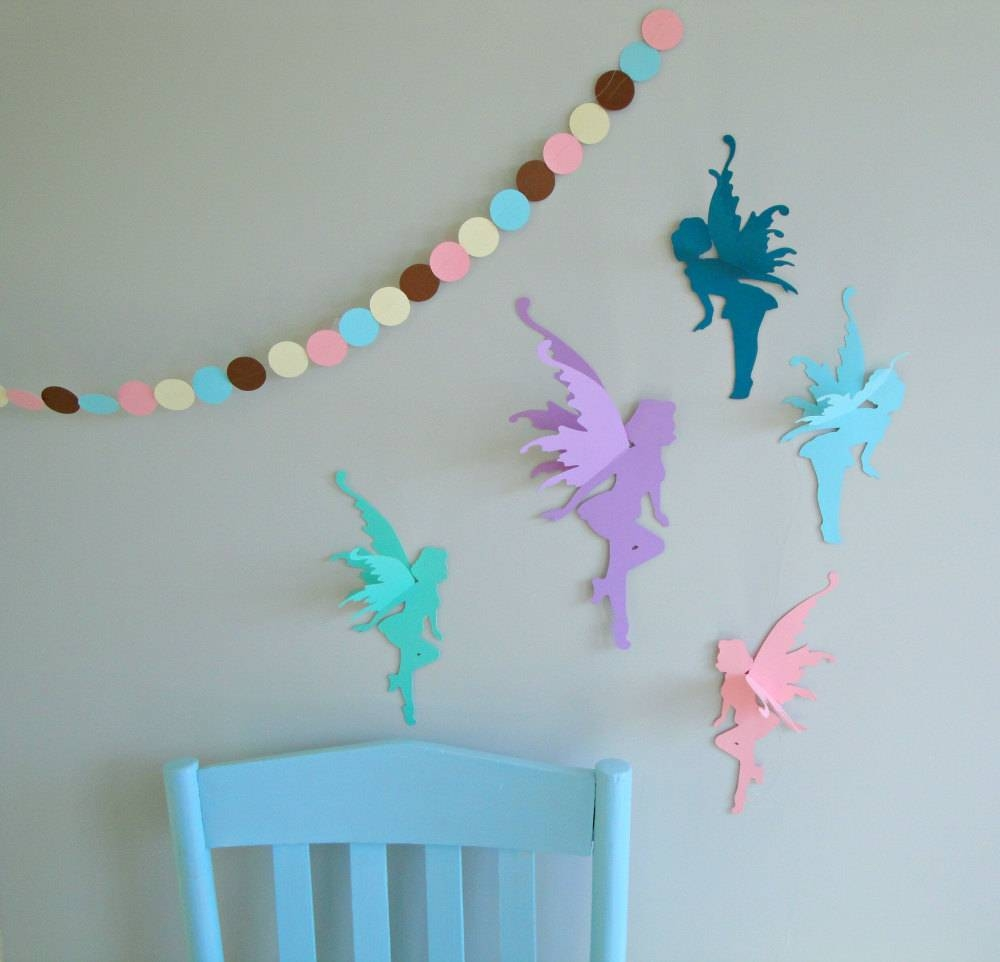 3D Fairy Wall Art Wall Decals Wall Decor In 2018 3D Wall Art For Baby Nursery (Gallery 19 of 20)