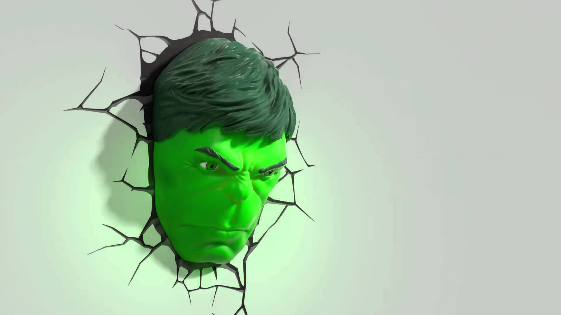 3d Fx Deco Lights Avengers Hulk Face Promotional Video – Youtube With Regard To Most Popular Hulk Hand 3d Wall Art (View 5 of 20)