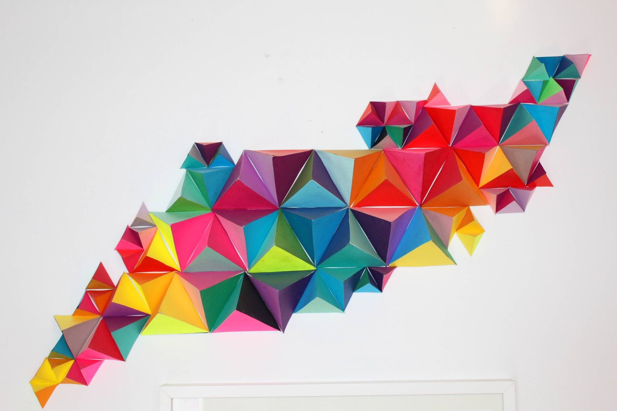 3D Geometric Wall Sculpture Sm | Make: Diy Projects And Ideas For Intended For Most Up To Date 3D Triangle Wall Art (Gallery 2 of 20)