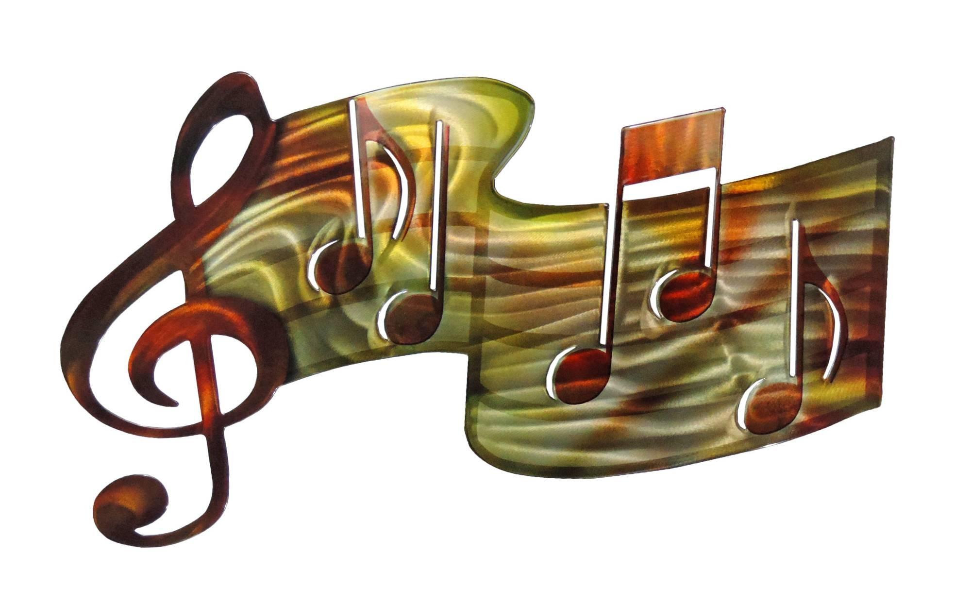 3D Music Staff – Musical Metal Wall Art Regarding Recent 3D Metal Wall Art (Gallery 14 of 20)