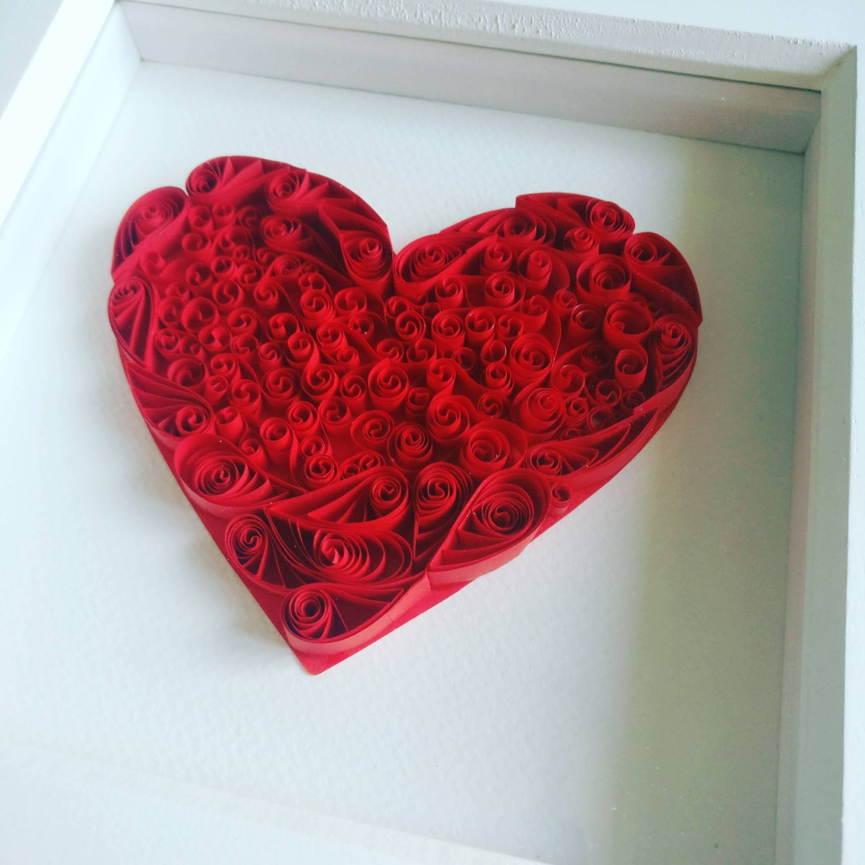3D Original Art Quilled Art Love Heart Paper Quilling with Most Popular Heart 3D Wall Art