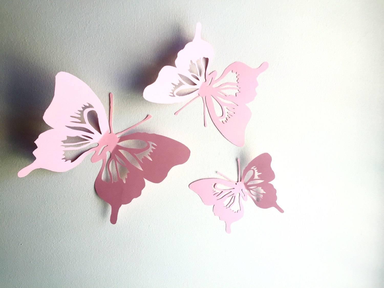 3D Paper Butterfly Wall Art Paper Wall Cut Out Butterfly With 2018 3D Paper Wall Art (View 5 of 25)