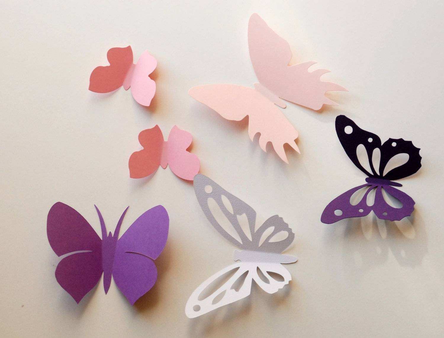 3D Paper Butterfly Wall Sticker Room Decoration Baby Within Most Up To Date White 3D Butterfly Wall Art (Gallery 12 of 20)