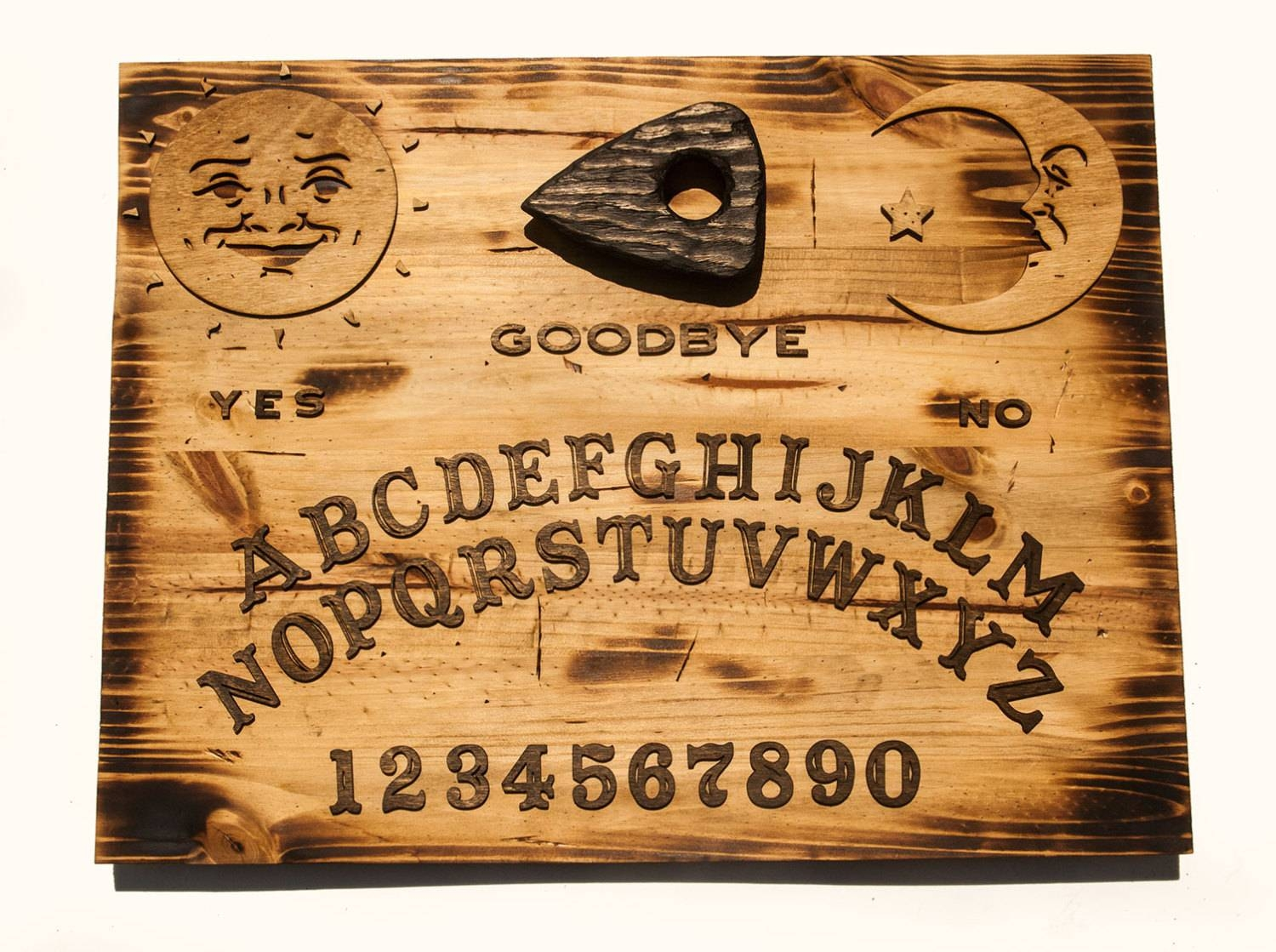 3D Sculptured Wall Hanging Wooden Ouija Board Art., Rustic, Sepia Regarding Most Recently Released Vintage 3D Wall Art (Gallery 13 of 20)